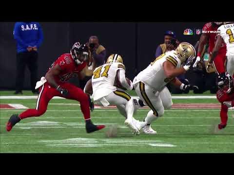 Alvin Kamara injured by Deion Jones: Saints vs Falcons Week 14