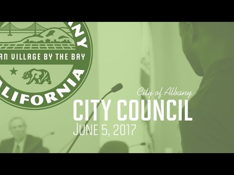 Albany City Council - June 5, 2017