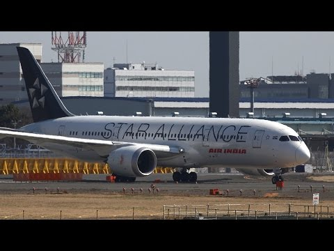 Air India Star Alliance Livery Boeing 787-8 VT-ANU Takeoff from NRT 16R