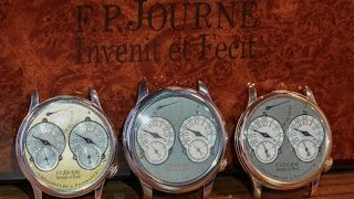 FP Journe Resonance Comparison: Tokyo Titanium, Early Platinum Yellow dial, Early Rose white dial