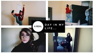 a REAL day in my life | re doing my room + cleaning
