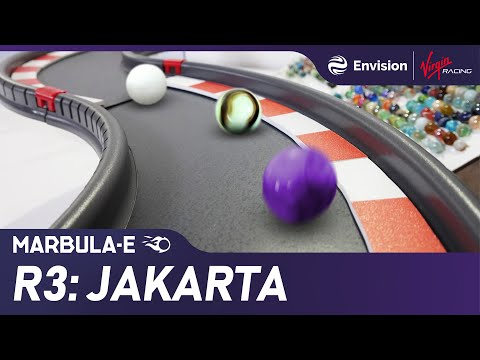 "Marbula E Race 3 ""Jakarta"" - Marble Race by Jelle's Marble Runs & Formula E"