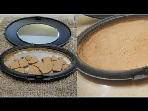 How to: Fix a Broken Powder, Blush or Eyeshadow - YouTube