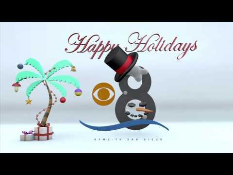 KFMB CBS 8 San Diego Snowman