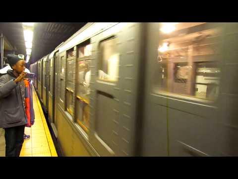 NYC Subway 2013 Nostalgia M Train - Queens Plaza Arrive