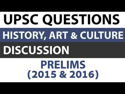 Art and Culture + Indian History questions - UPSC Prelims 2015 2016 Paper analysed