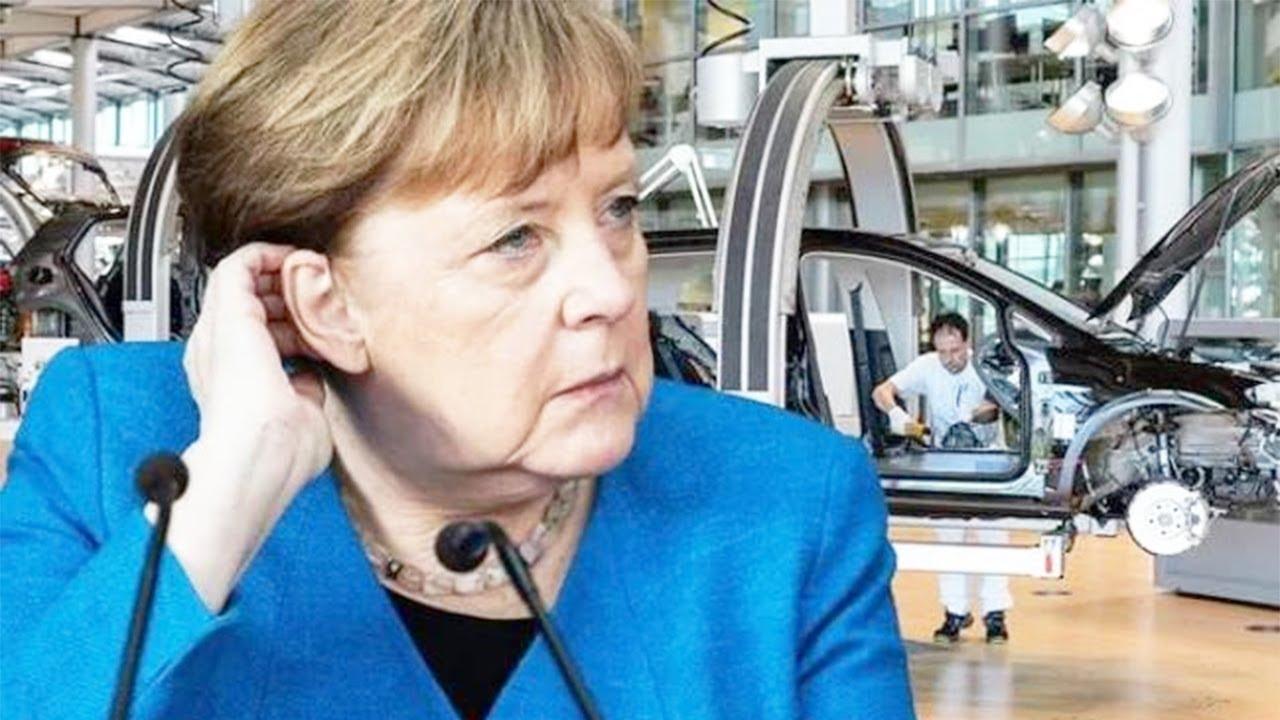 Merkel's manufacturing industry HlT by DEVASTATlNG probIems – 'OUTL00K lS DlMlNlSHlNG'