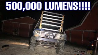 Mud Truck burns Astronauts eyes with new 500,000 Lumen Light Bar Setup
