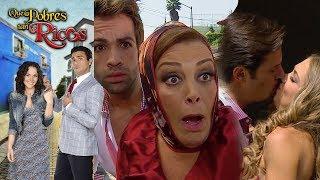 Qué pobres tan ricos: Ana Sofía descubre a Alejo y a Minerva... ¡Besándose! | Escena - C12