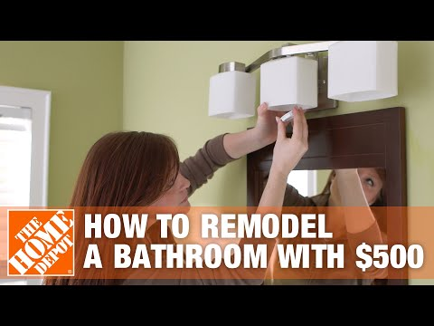How to Remodel a Bathroom with $500 - The Home Depot