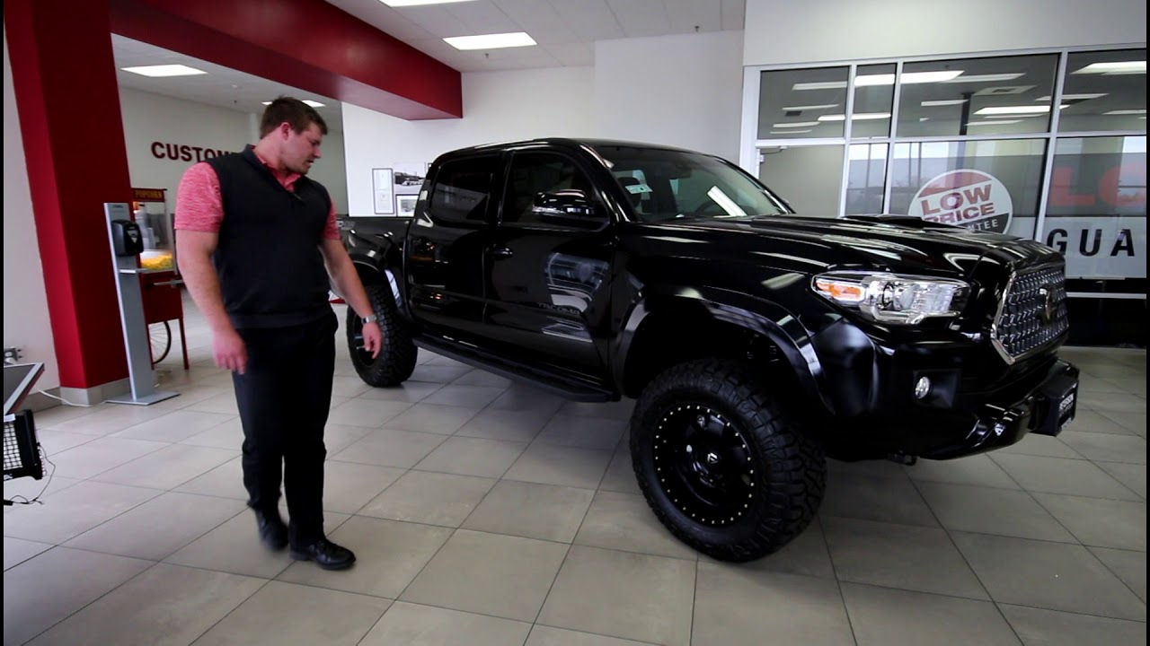"""BLACKED OUT TACOMA WITH 18"""" FUEL PODIUM WHEELS - YouTube"""