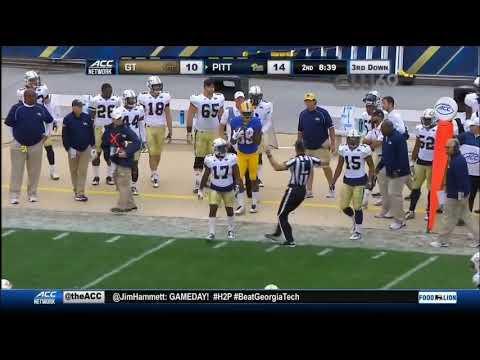 Pitt offense vs GTech No Huddle