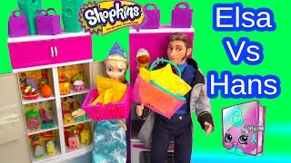 Disney Frozen Queen Elsa VS Prince Hans Shopkins Season 3 & 2 Pack Toy Unboxing Challenge Video