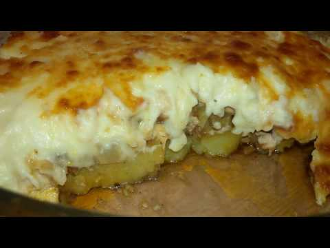Baked Chicken And Potatoes With Bechamel Sauce Recipe