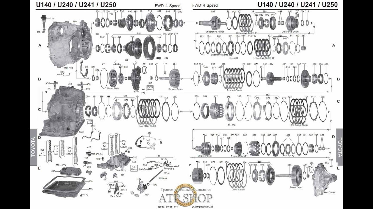 hight resolution of lexus toyota corolla transmission rebuild u140e u140f u142e u151e 2002 pontiac grand prix transmission diagram 2002 toyota corolla transmission diagram