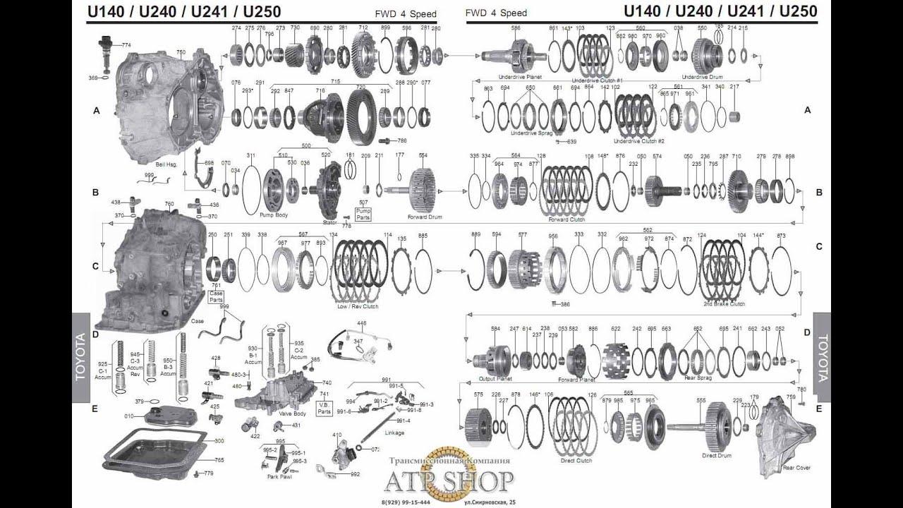 lexus toyota corolla transmission rebuild u140e u140f u142e u151e u151f u240e u241e u250e youtube [ 1503 x 1005 Pixel ]