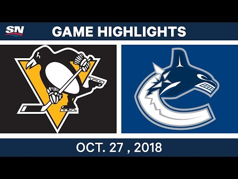 NHL Highlights | Penguins vs. Canucks - Oct. 27, 2018