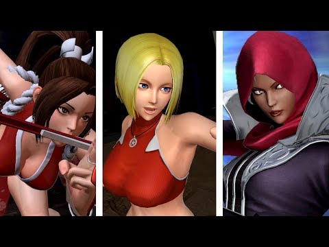 The King of Fighters XIV: All Girls Super Moves (2018 Update)
