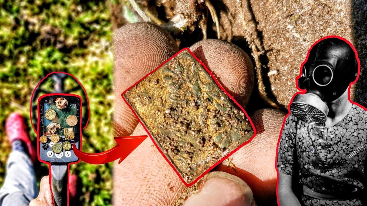UNGLAUBLICHE ALTE FUNDE bei der SCHATZSUCHE gefunden - Sondeln mit einem Metalldetektor (WW2)