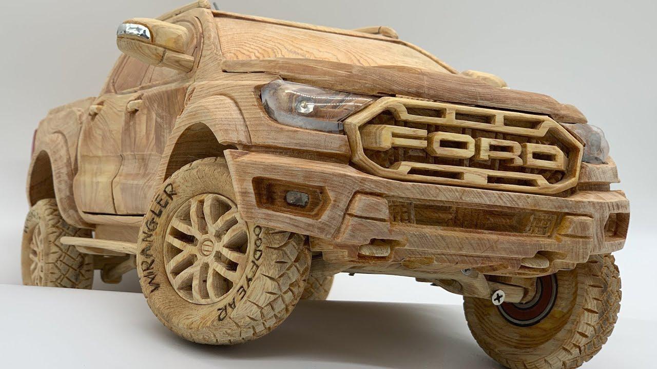 Wood Carving - FORD RANGER RAPTOR 2020 - Woodworking Art - YouTube