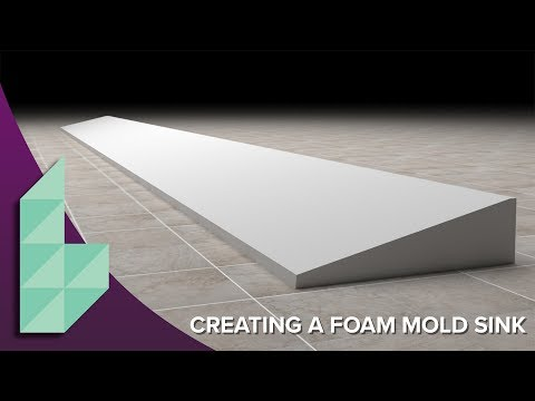 Concrete Sink Molds Part 1 - How to Make a Ramp Sink Mold in EPS Foam Video
