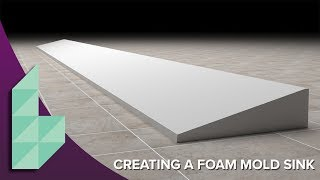 concrete sink molds part 1 how to make a ramp sink mold in eps foam video