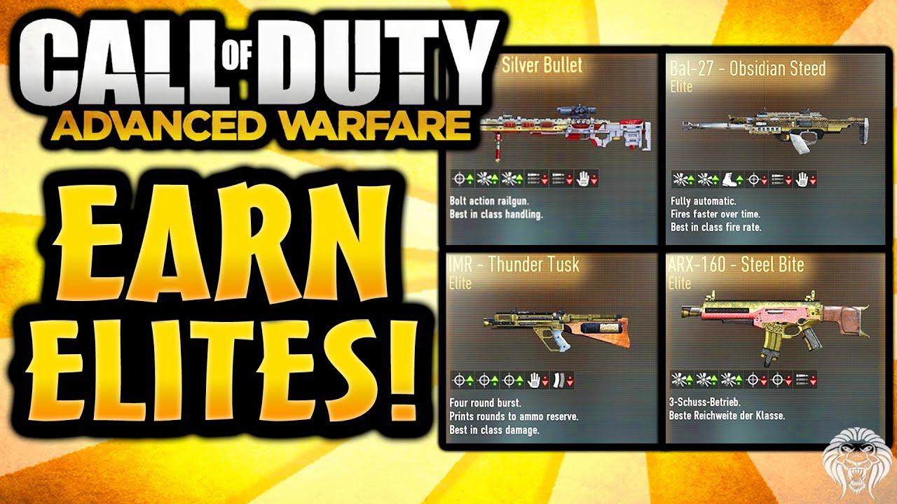 Cod advanced warfare news earn elite weapons soon direct elite gun