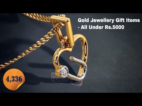 10 Amazingly Beautiful Gold Jewellery Gift Items Under Rs.5000: Includes 10 Videos Clips