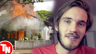 casa de youtuber pega fogo ao vivo pewdiepie  expulso da network por causa de piadas polmicas