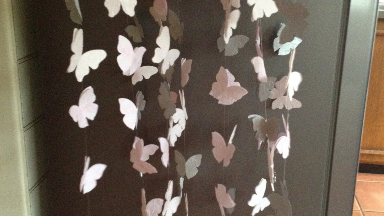 How To Create a Pretty Butterfly Mobile - DIY Home