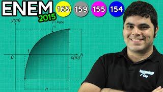ENEM 2015 Matemática #19 - Logaritmo, Função Logarítmica (questão mais difícil)