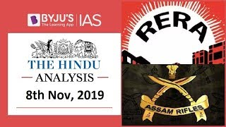 'The Hindu' Analysis for 8th November, 2019 (Current Affairs for UPSC/IAS)
