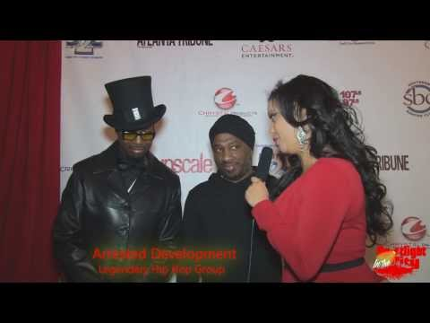 Hip Hop Group Arrested Development on red carpet 2014 Legendary Awards on Spotlight in the City