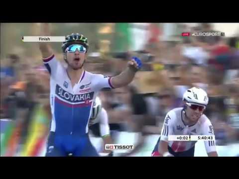 Peter Sagan WORLD CHAMPION Doha 2016 Nemecký komentár