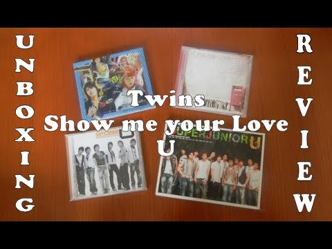 Unboxing Review - 2005 2006 of Super Junior - Twins, Show me your love, U, U Taiwan CD+DVD