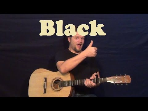 Black Pearl Jam Easy Guitar Lesson Strum Chords How To Play