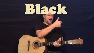 Black (Pearl Jam) Easy Guitar Lesson Strum Chords How to Play Tutorial