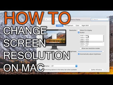 How To Change Screen Resolution On Mac