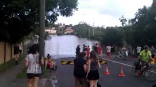vuclip Milton Road, Milton near the XXXX Brewery Brisbane Flood 2011 20110112