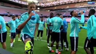 Entraînement de l'Equipe de France à l'Allianz Riviera
