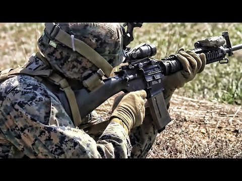 USMC Training At Ft Bragg • Squad Attack & Artillery Fire
