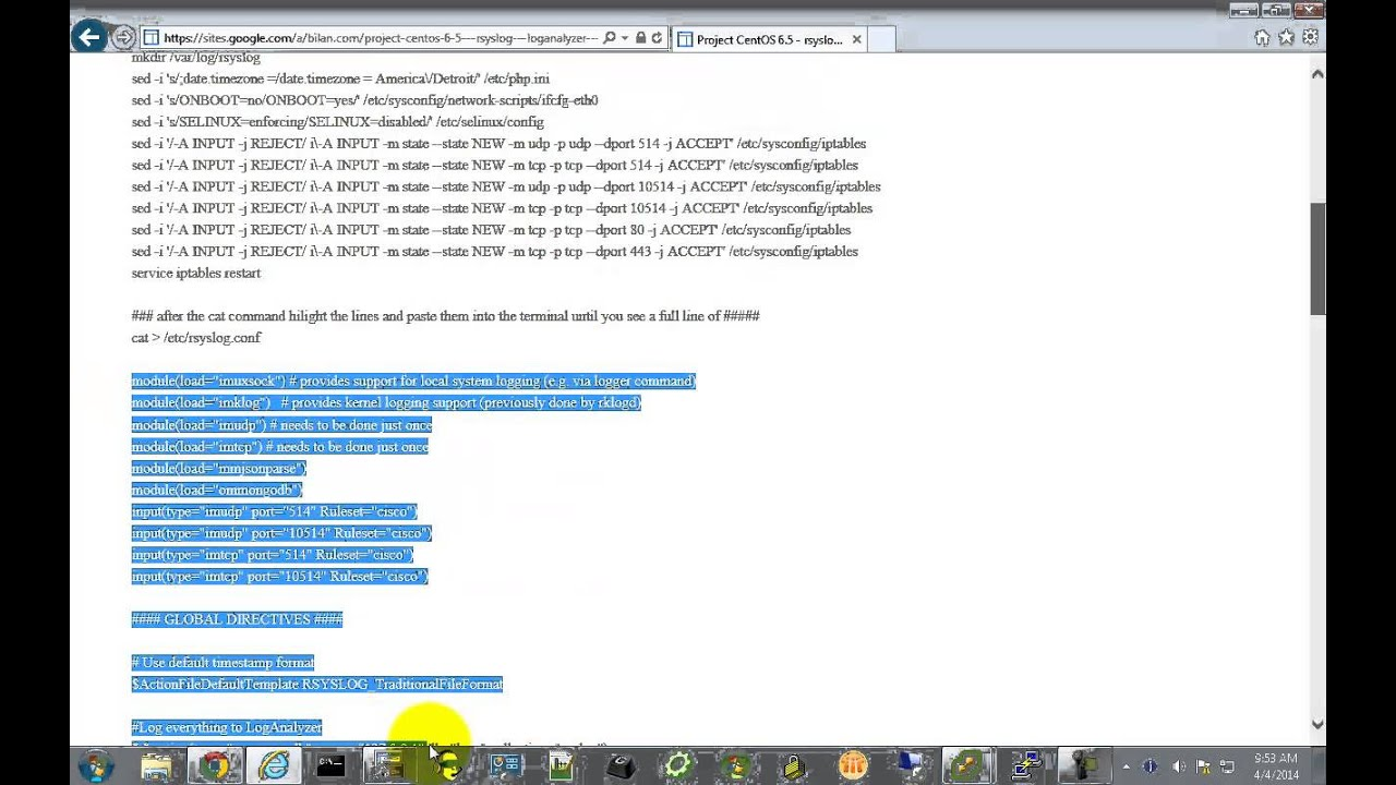 Project CentOS 6 5 - rsyslog 7 6 1 - Loganalyzer 3 6 5