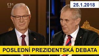 POSLEDNÍ PREZIDENTSKÁ DEBATA mezi M. Zemanem a J. Drahošem. Volby prezidenta 2018.