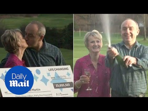Lottery Couple Toast Their Massive Win With Champagne - Daily Mail
