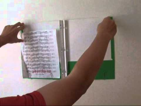 Reattachable wall music stand