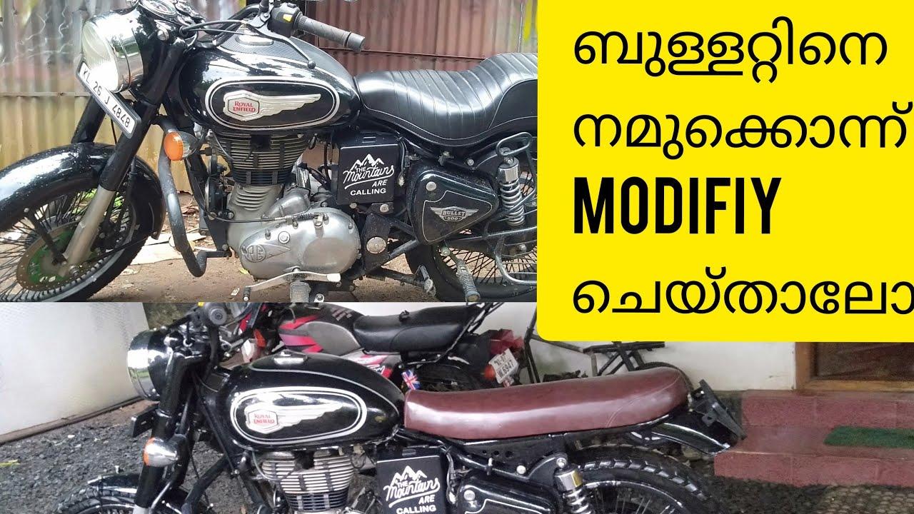 Bullet modifications || standard 500 || ബുള്ളറ്റിനെ അങ്ങനെ കഫേറേസർ ആക്കാം || custom bike