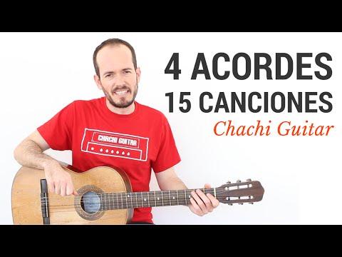 15 Canciones con 4 Acordes - Guitarra Fácil Principiantes