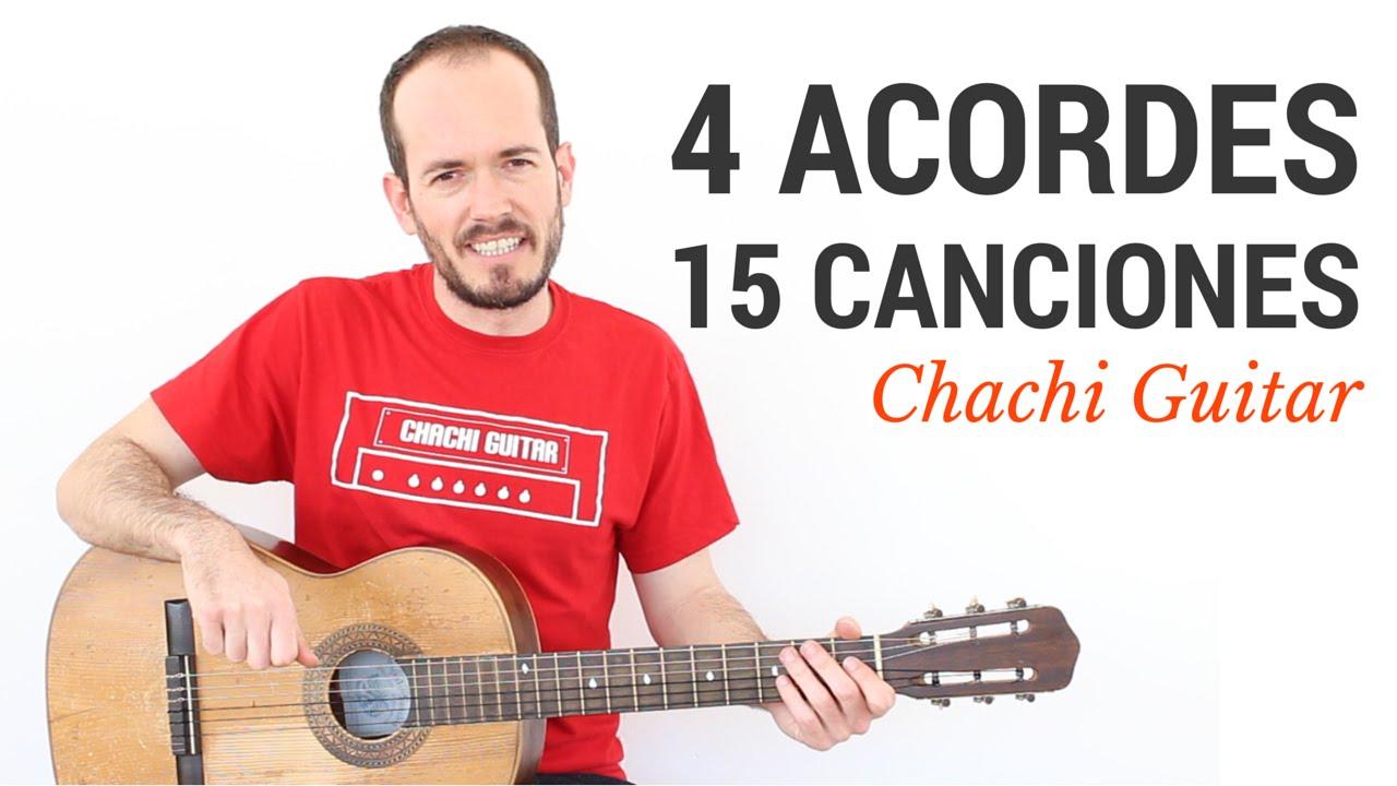 15 Canciones Con 4 Acordes Guitarra Fácil Principiantes Youtube