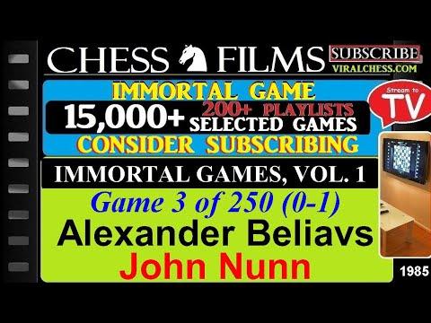 Chess: Immortal Games, Volume 1 (#3 of 250): Alexander Beliavsky vs. John Nunn