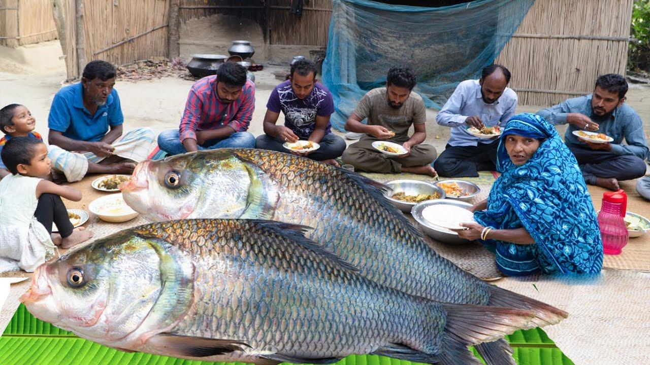 ভাবির হাতের কাতলা মাছের ঝোল অমৃত স্বাদ -Katla Fish Delicious Bengali Curry -গ্রামের সাধারণ জীবনযাপন